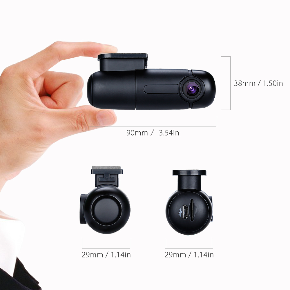 Blueskysea B1W Dash caméra de tableau de bord Full HD 1080 P Mini WiFi Dash Cam 360 Degrés Tournent Parking Mode IMX323 Voiture Tableau de Bord enregistreur - 3