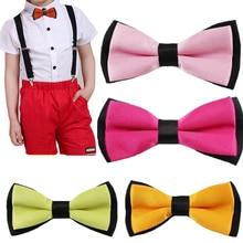 Новинка; высокое качество; Детский галстук-бабочка; регулируемый галстук-бабочка в деловом стиле для свадьбы; галстук-бабочка для мальчиков; 20 цветов; YHB0004