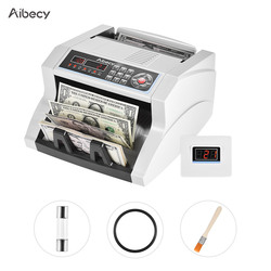 Aibecy Multi-currency Banknote Counter Bill Detector Automatic Money Cash Counting Machine for US Dollar Euro Pound AUD Ruble