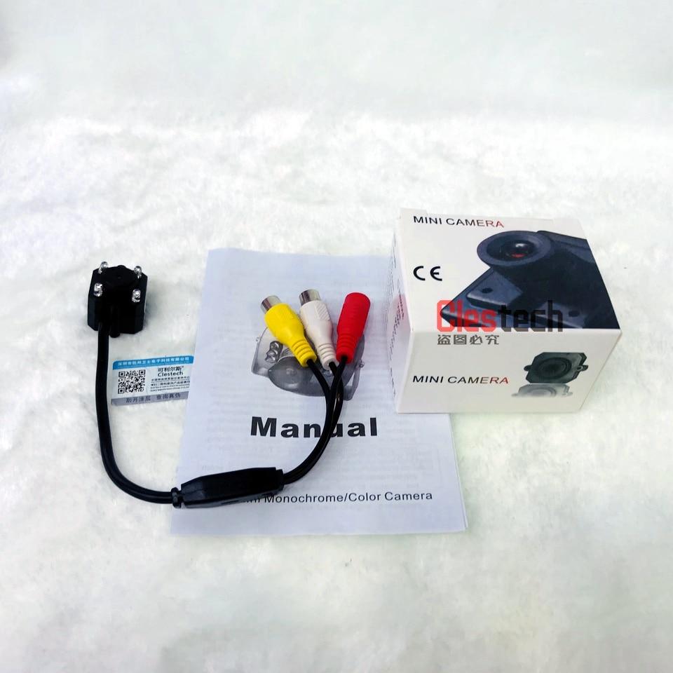 Väga Mini 1 / 4cmos 700tvl Hd mikrokaamera Audio Mic 4tk Led - Turvalisus ja kaitse - Foto 6