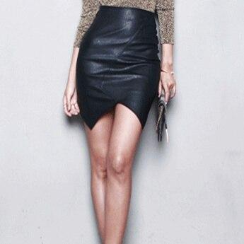 Aliexpress.com : Buy PU Leather Skirt Women 2017 Sexy Slim Bodycon ...