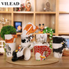 3D Dimensional Lover Animal Ceramic Coffee Mugs Creative Cute Cartoon Heat Resistant Milk Tea Cat Porcelain