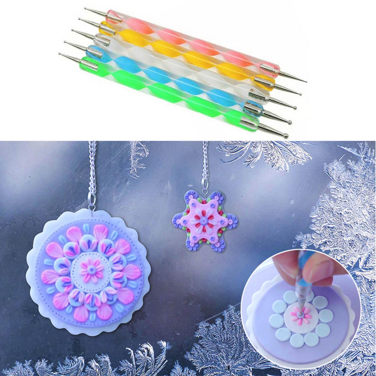 Set of All 5 Select Size Dome Stencil Brush Swirl Prevent Bleeding DIY Crafting /& Painting Tools Dry Brush Scumble