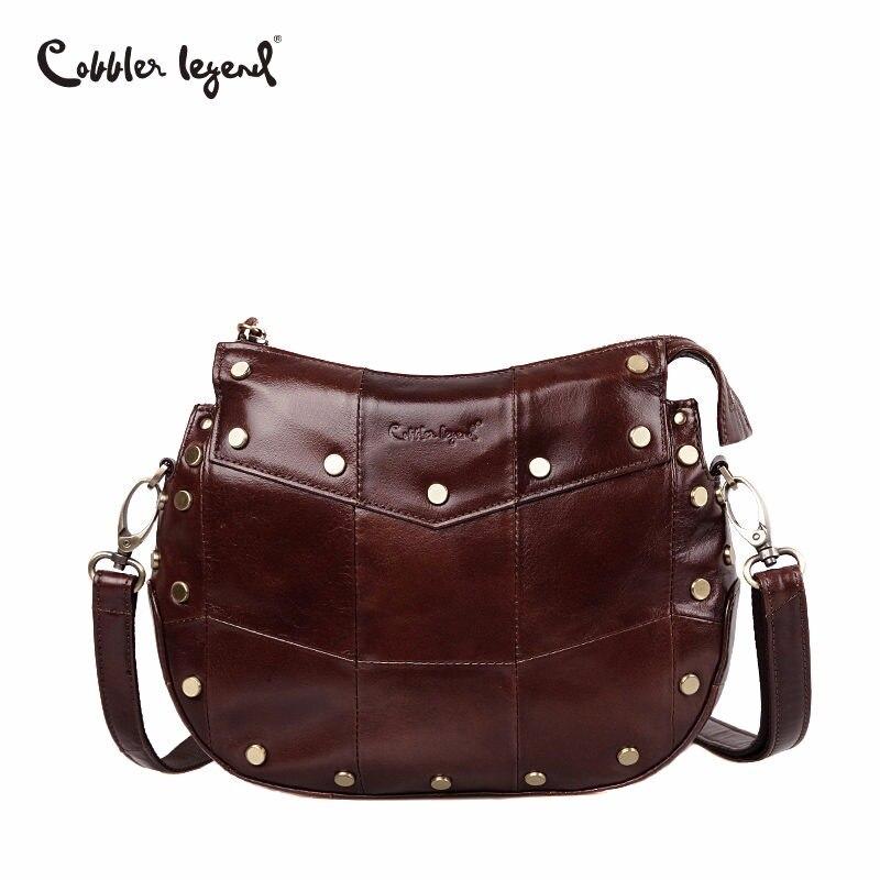 Cobbler Legend Brand Genuine Cow Leather Shoulder Bags Gift Women Casual Tassel Messenger Bag Handbag Designer