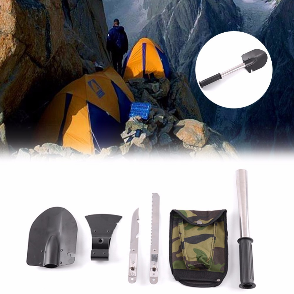 4-in-1 Multifunction Military Engineer Shovel Kit For Outdoor Camping Family Gardening Survival Tool Travel Accessories 2017 hot selling professional military tactical multifunction shovel outdoor camping survival folding spade tool equipment