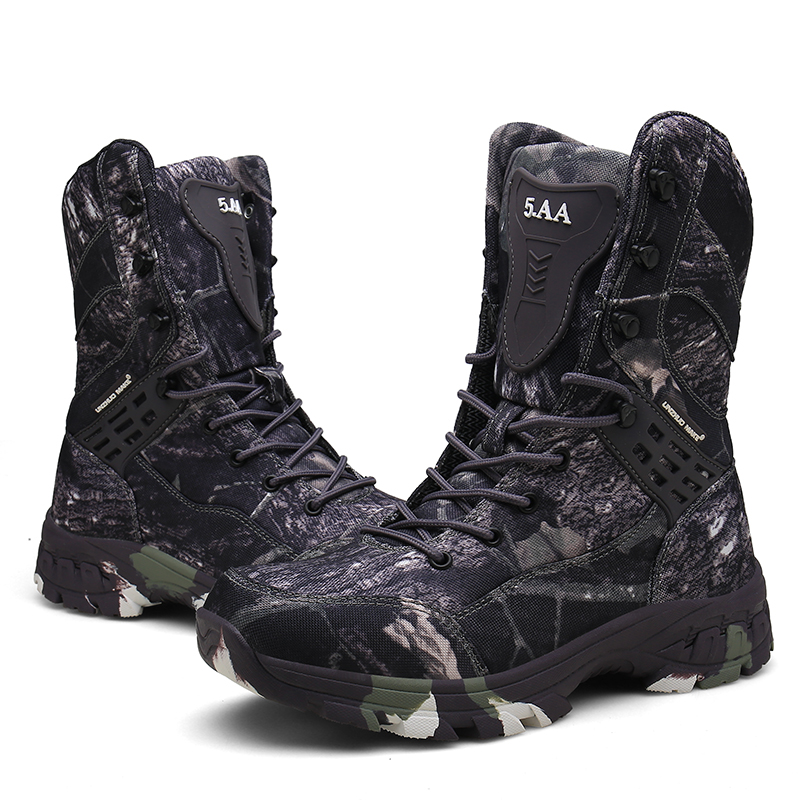 c9b00fa880b Cunge Outdoor Tactical Military Boots Men Desert Combat Army Boots Winter  Ankle Boots Male Hiking Shoes Camouflage Hunting Boots