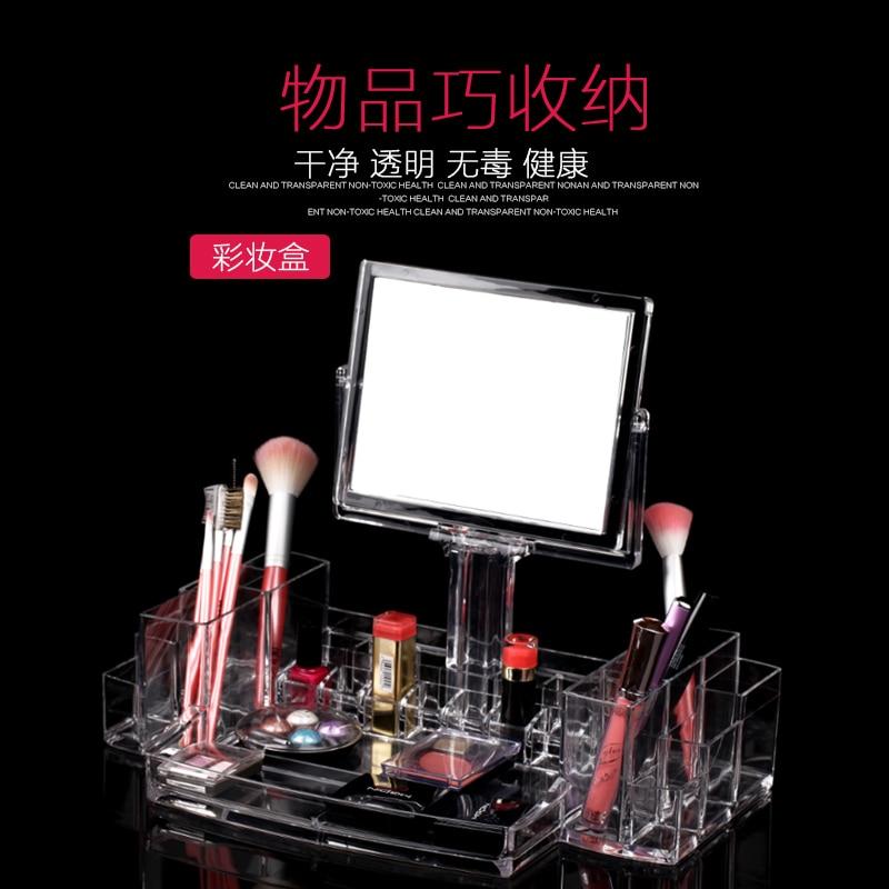Хорошее зрение магазин Многофункциональный косметический коробка для хранения прозрачный лак для ногтей, помада и карандаш для бровей сто