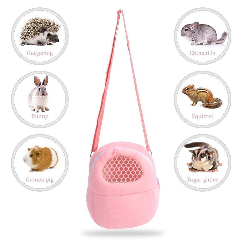 Pequeno animal de estimação portador hamster chinchila portátil respirável viagem quente sacos porquinho da índia transportar bolsa saco