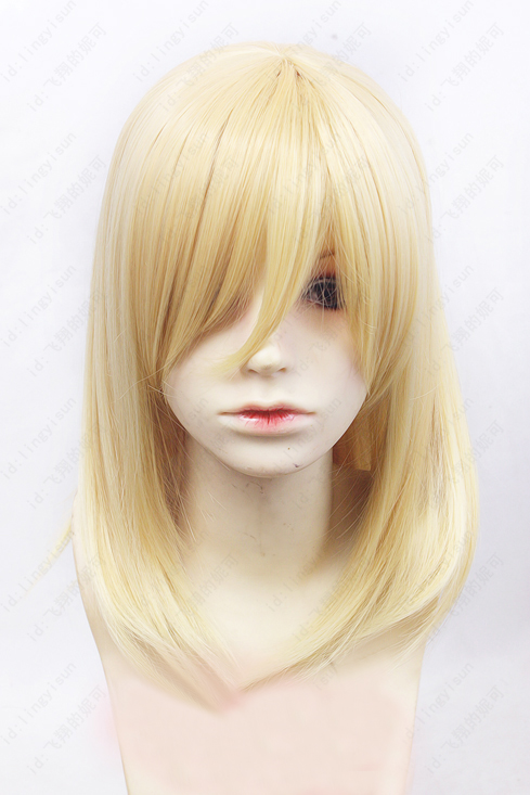 Howl's Moving Castle Wizard Howl Short Blonde And Short Black Heat Resistant Synthetic Hair Cosplay Costume Wig + Cap