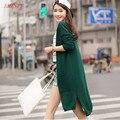 Весна 2016 НОВЫЙ длинный участок Кашемира Джемпер Свитер пальто женщин Корейский диких прилив Г-Жа Тонкий