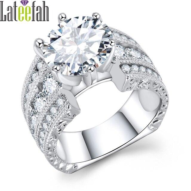 Lateefah Fashion Big Engagement Jewelry Rings For Women Large Stone