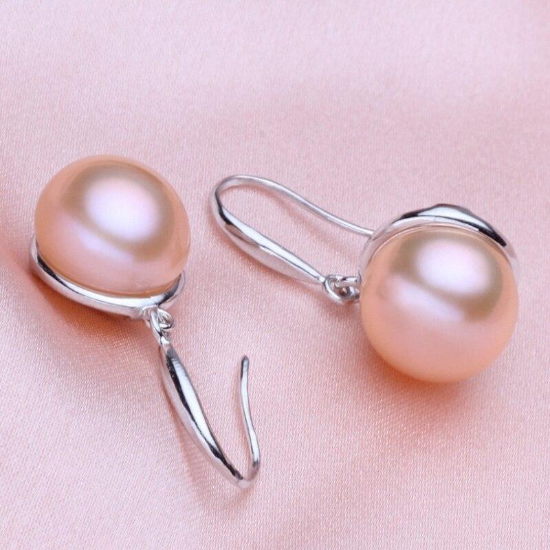 ASHIQI Prirodne bijele slatkovodne biserne naušnice od srebra 925 - Fine nakit - Foto 3