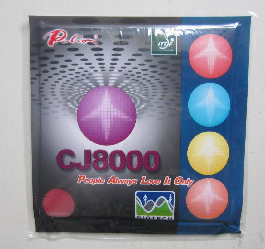 Original <font><b>Palio</b></font> <font><b>CJ8000</b></font> <font><b>BIOTECH</b></font> (2-Side Loop Type) Pips-In Table Tennis Rubber With Sponge for Ping Pong Racket image