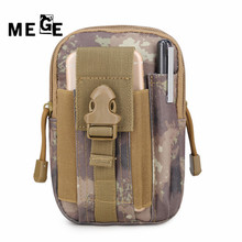 MEGE Outdoor Hunting Climbing BagTactical Military Molle Hip Waist Belt Wallet Pouch Purse Phone Case for iPhone 7 for Samsung