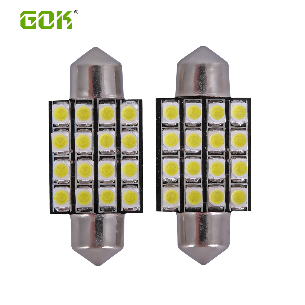 Freeshipping festoon 16smd 1210 3528 31MM 36MM 39MM 41MM Car LED Festoon Dome Light Automobile Bulbs