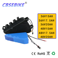 Free customs duty Triangle Bag 36 Volt 48V Electric Bike Battery 36V 15Ah 17.5ah 20Ah Ebike Lithium Ion Battery free Shipping