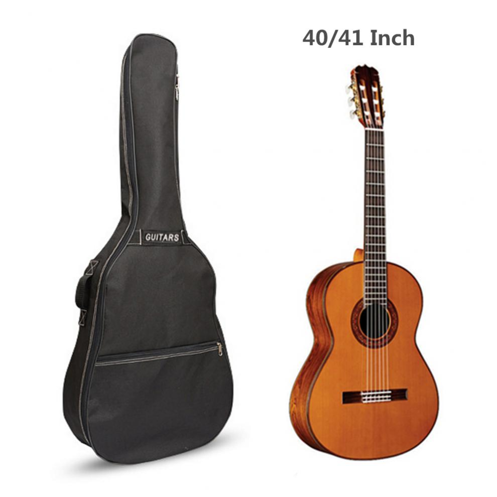 40 / 41 Inch Oxford Guitar Gig Bag Cover Double Straps Guitar Bag Backpack 12mm waterproof soprano concert ukulele bag case backpack 23 24 26 inch ukelele beige mini guitar accessories gig pu leather