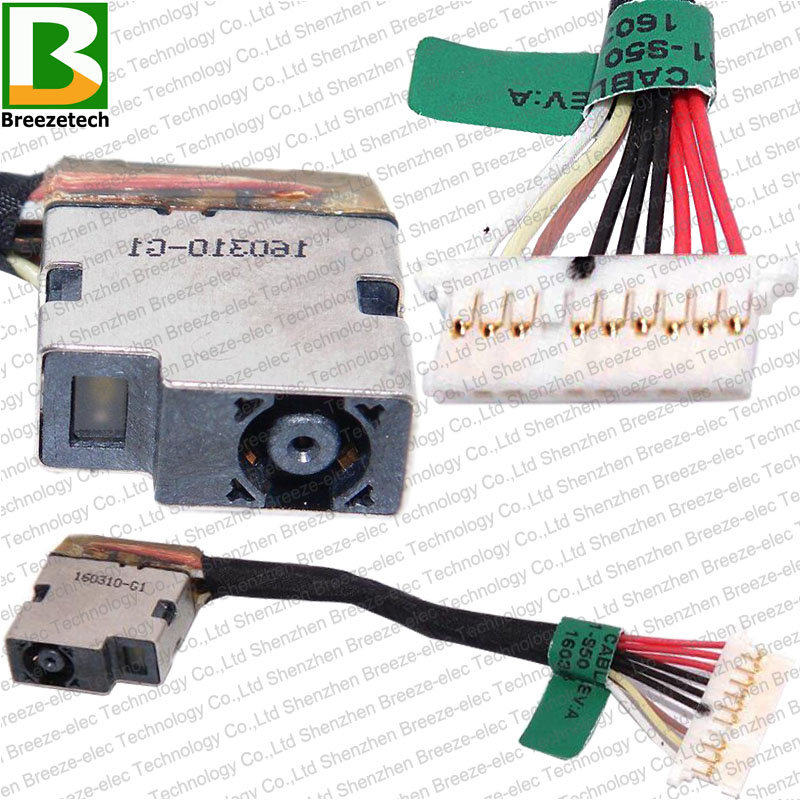 Original New DC POWER JACK Socket Cable Connector Wire FOR HP 15-BC 15-AX 15T-BC 15-BC018CA 15-BC020NR 15-AX033DX 799751-S50 F50
