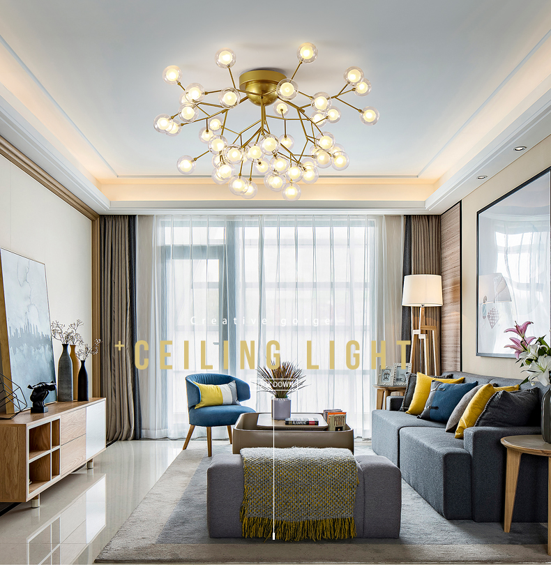 Nordic lamp modern minimalist living room lamp creative personality bubble ball lighting restaurant bedroom firefly ceiling lamNordic lamp modern minimalist living room lamp creative personality bubble ball lighting restaurant bedroom firefly ceiling lam