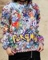 Pikachu hoodies impressão bonito suor mulheres camisolas 3d pokemon Pika Pi macacão outono top plus size S-XXL