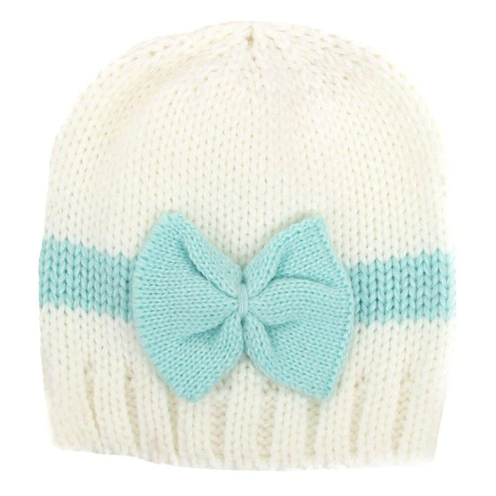 Crochet el sombrero del bebé recién nacido gorros chicas arcos ...