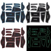 Подходит для LIFAN X50 автомобиля Нескользящие напольные подушки дверной коврик чашки наклейки обложки авто ворота Слот коврики для укладки 13 шт. комплект