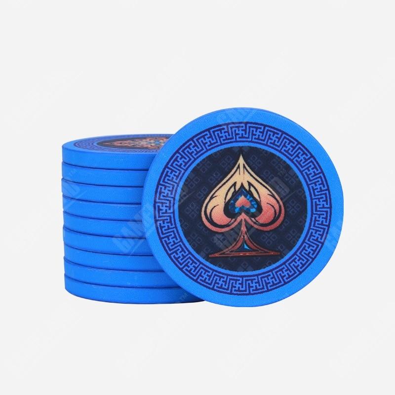 10pcs/Lot Premium Ceramics Chips 10 Gram Gem Pattern Texas Holdem Poker Gambling Casino Chip Wholesale