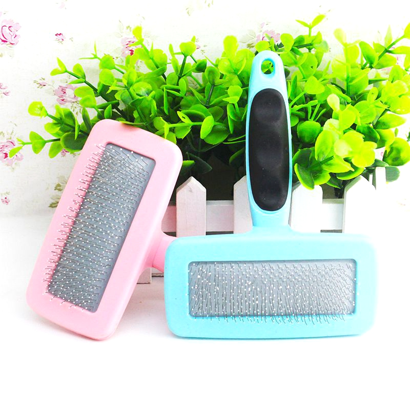Dog Comb Anti Static Pet Hair Brush Non-slip Grip Cat Brushes Shaggy Fur Removal Tool Pets Massage Combs Dogs Grooming Products