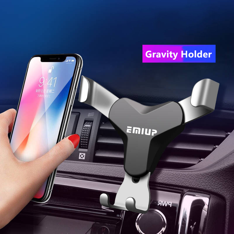 Car Phone Holder Universal Gravity Mobile Phone Holder Stand No Magnetic Support Cell Air Vent Mount Smartphone Holder In Car gear shift