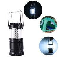 Tragbare Camping Laterne 30 LED Strohhut Lampe Perlen Kühles Zug Schalter Wasserdicht Zelt Licht Bequem Außenbeleuchtung