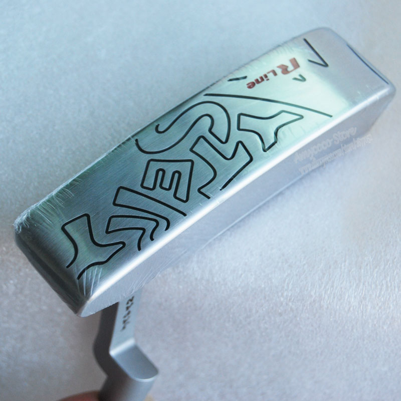 цена на New mens Golf Putter Head R line Mystery Golf head silver color Putter Clubs head No Golf shaft Free shipping