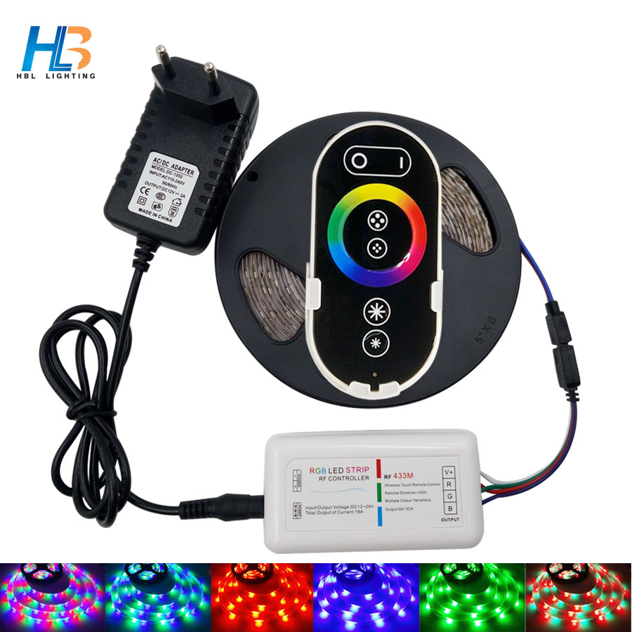 RGB Led Strip Light SMD2835 5M 10M Flexible Led Tape RGB led strip 15M 20M RGB Led Ribbon IP20 IP65+Remote+DC 12V Adapter kit dc 12v rgb rgbw led strip 5050 ip65 waterproof flexible led light 2 4g rf remote controller power adapter kit 20m 15m 10m 5m