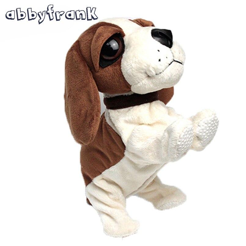 Abbyfrank electrónico Perros PET control de sonido robot interactivo perro bark stand Walk electrónico para bebé juguete regalo interactivo