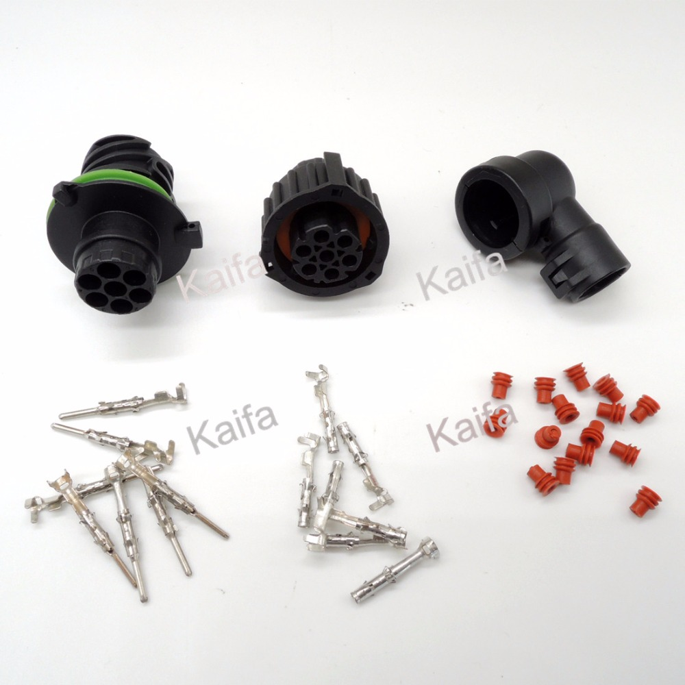 1 Set   7 Pin 1718230 967650-1 965783-1 Auto Sensor Plug Waterproof Electrical Wire Connector [vk] 553602 1 50 pin champ latch plug screw connectors