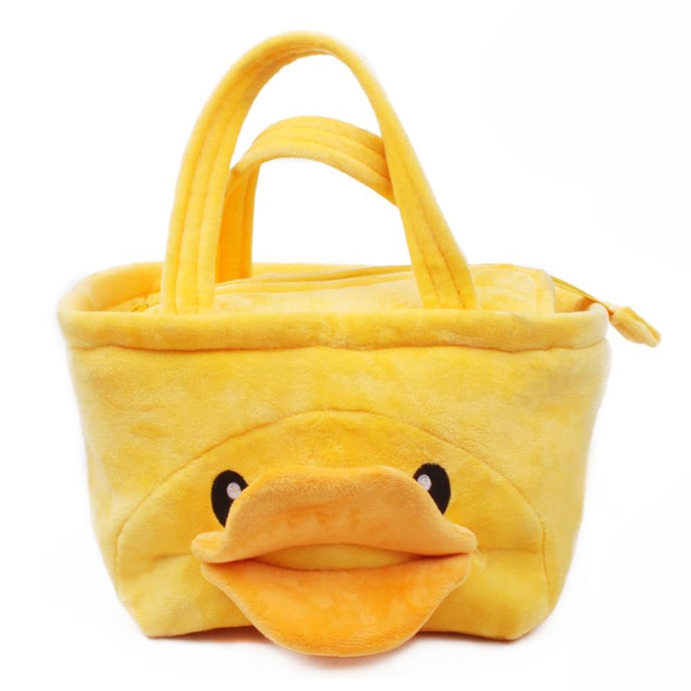 Cute Yellow Duck Handbag for 1 to 3 Year Old Kids Lunch Box Handbag Children Gifts Kintergarden