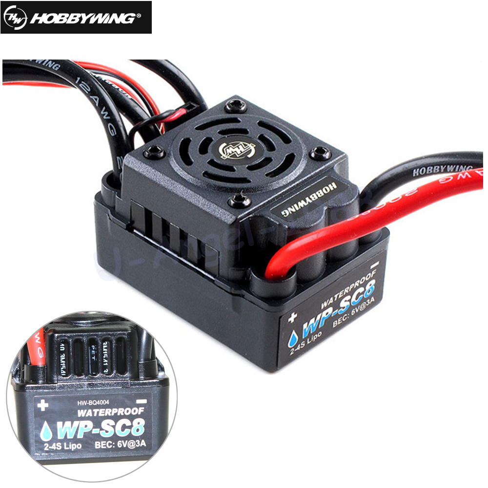 1set 100% Original Hobbywing EZRUN WP SC8 Waterproof 120A Brushless ESC RC Car EZRUN-WP-SC8 for Brushless Motor+retail box wp sc8 waterproof 120a brushless esc splash water proof dust ezrun wp sc8 esc 2 in 1 multi functional professional programming