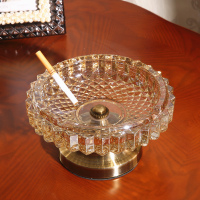European Glass Ashtray Ashtray Model Room Decor Home Furnishing American Fashion Personality Ornaments Jewelry