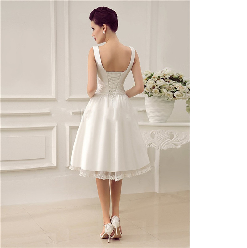Short Wedding Dress with Straps