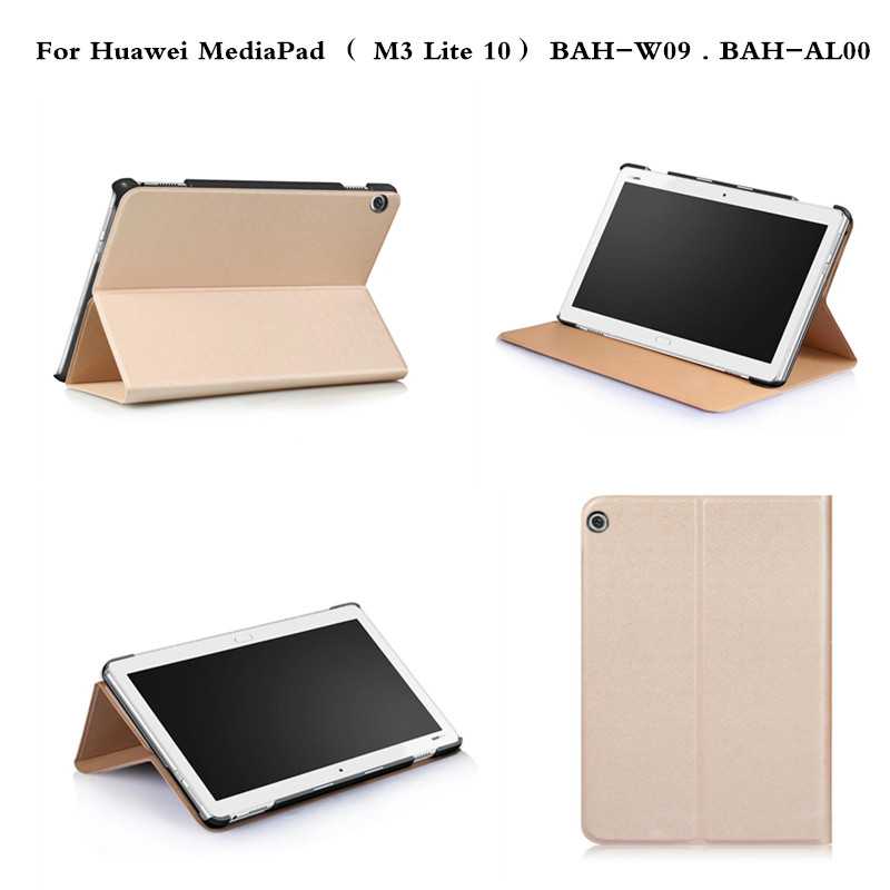 Luxury Multi angle PU Leather Slim Stand Cover For Huawei MediaPad  M3 Lite 10 BAH-W09 BAH-AL00 10.1'' Tablet Business Case mediapad m3 lite 8 0 skin ultra slim cartoon stand pu leather case cover for huawei mediapad m3 lite 8 0 cpn w09 cpn al00 8