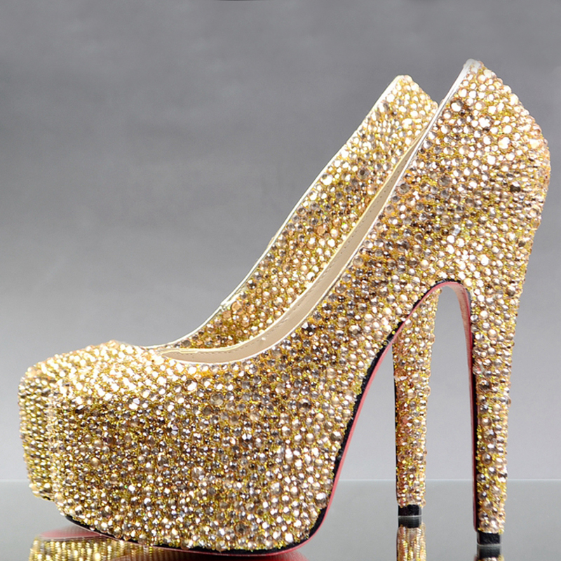 Popular Rhinestone Gold Heels-Buy Cheap Rhinestone Gold Heels lots