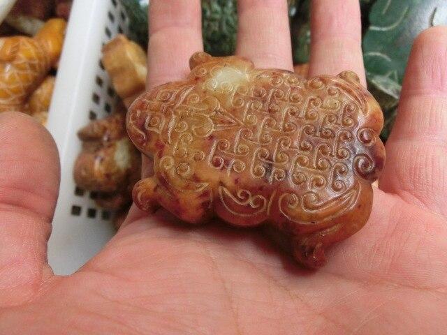 Античные скульптуры камня, нефрит ювелирные изделия, лягушка признательность, коллекция 008