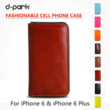 Top Quality Genuine Leather & Wool Felt Flip Case for iPhone 6/6s Plus 5.5 inch Wallet Case With Card Slot inside