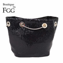 Boutique De FGG Bolsos De Mujer Mini bolsos De noche De aluminio para damas Casual Metal embragues Coin Purse Party Dinner Chain Bag(China)