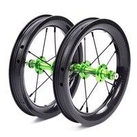 Silverock Carbon 12 балансировочные велосипедные колеса детские BMX беговел Детские колеса 84 мм 10 H 390g