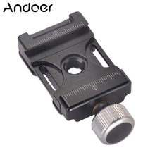 Andoer 38mm Aluminum Screw Knob Mini Quick Release Clamp Compatible with Arca Swiss for 38mm QR Plate
