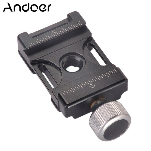 Bouton de vis en aluminium Andoer 38mm Mini pince à dégagement rapide Compatible avec Arca Swiss pour plaque QR 38mm