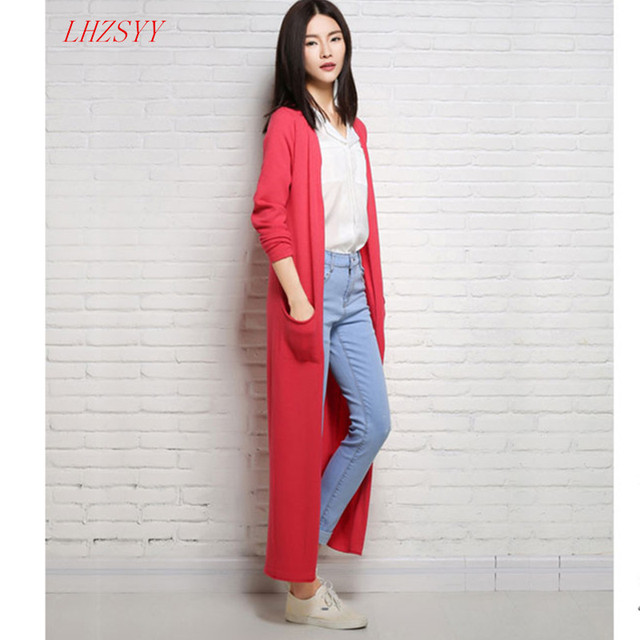 2016 summerFashion wild female long Sweater Cardigan sweater coat solid color loose thin section air-conditioned shirt