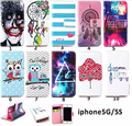 PU Leather Case For iPhone 5 Phone Accessories For Apple iPhone 5s Flip Stand Soft TPU Silicon Cover Wallet Style with card slot
