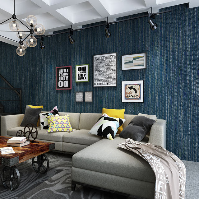 online shop modern solid color dark blue grey wallpaper roll for
