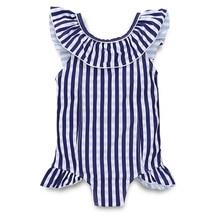 Toddler Kids Swimwear Baby Girls Swimsuit Striped Children Bathing Suit Princess Beachwear D20